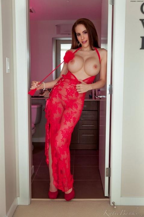Сексуальная брюнетка в эффектном белье щеголяет большой попкой и узкой киской