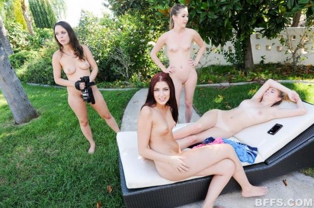 Жопастые бляди развлекаются в групповом сексе порно фото